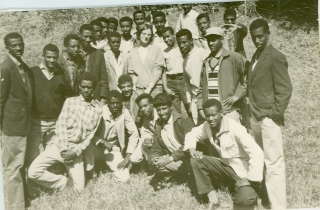 Picture # 2 ... 1967 Commercial Sectionl 11th graders with their teacher, MS. O'Sullivan